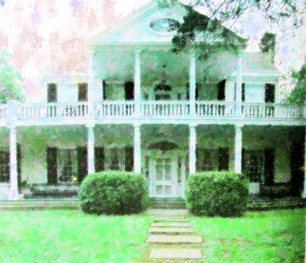 Mansion Mixed Media - Antebellum Home Mississippi by Florene Welebny