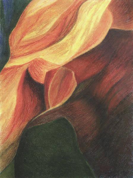 Pastel - Antelope Canyon 3 by Anne Katzeff
