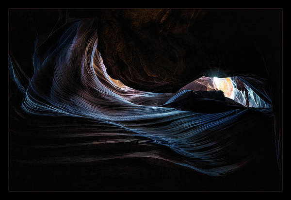 Wall Art - Photograph - Antelope Canyon Blue by Robert Fawcett