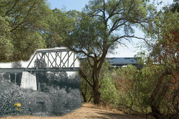 Photograph - Antelope Creek Railroad Bridge - Then And Now by Jim Thompson