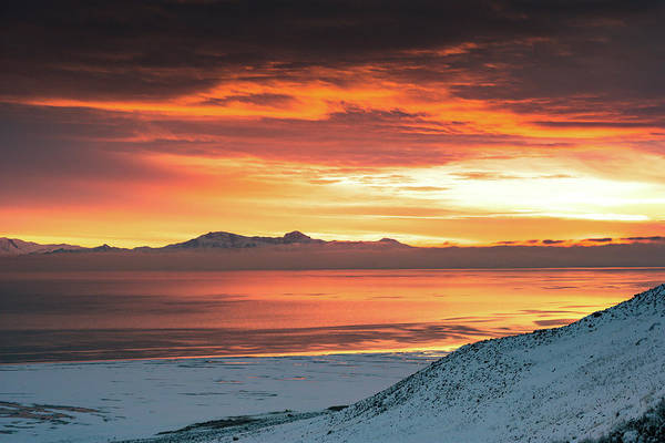 Photograph - Antelope Island Sunset by Bryan Carter