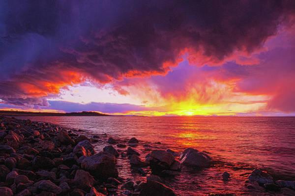 Antelope Island Sunset Art Print