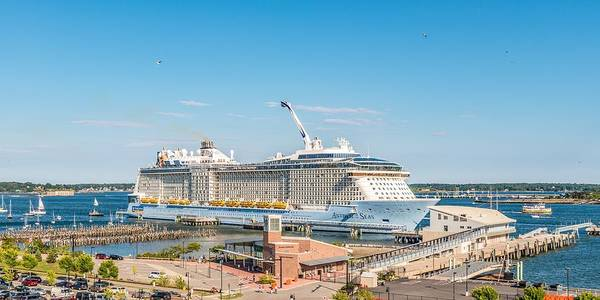 Dock Of The Bay Photograph - Anthem Of The Seas At Portland II by Tim Sullivan
