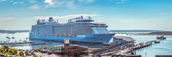 Dock Of The Bay Photograph - Anthem Of The Seas At Portland by Tim Sullivan