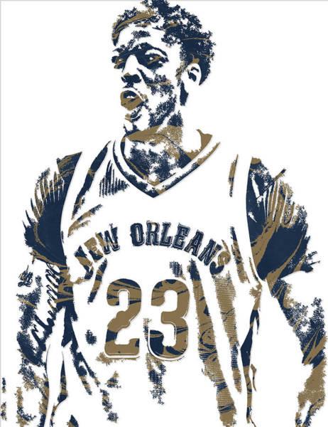 Pelican Mixed Media - Anthony Davis New Orleans Pelicans Pixel Art 5 by Joe Hamilton