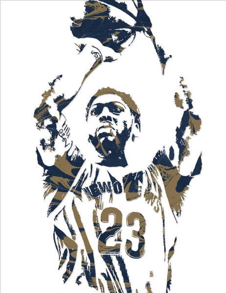 Pelican Mixed Media - Anthony Davis New Orleans Pelicans Pixel Art 7 by Joe Hamilton