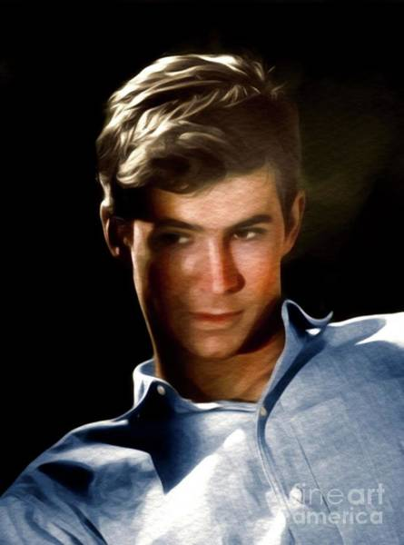 Psycho Painting - Anthony Perkins, Hollywood Legend by John Springfield