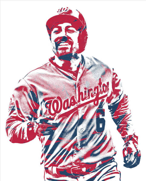 Wall Art - Mixed Media - Anthony Rendon Washington Nationals Pixel Art 2 by Joe Hamilton