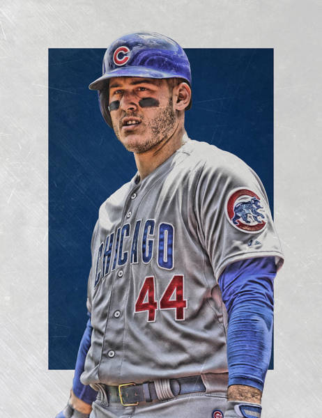 Wall Art - Mixed Media - Anthony Rizzo Chicago Cubs 3 by Joe Hamilton