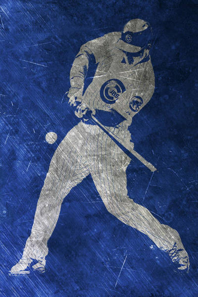 Wall Art - Painting - Anthony Rizzo Chicago Cubs Art by Joe Hamilton