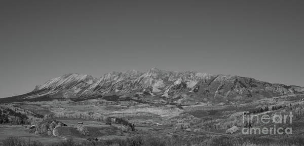 Photograph - Anthracite Range In Autumn Bw by Michael Ver Sprill