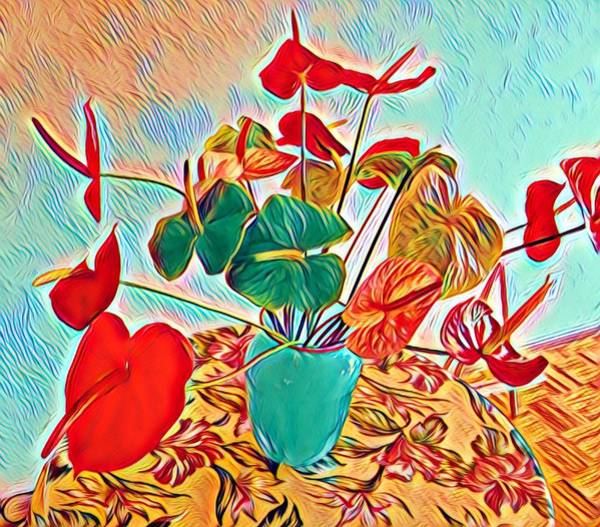 Anthurium Bouquet Of The Day - Multiple Color Art Print