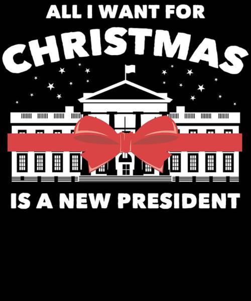 Midterm Wall Art - Digital Art - Anti Donald Trump Christmas Edition Vote For Dems Dark by Nikita Goel