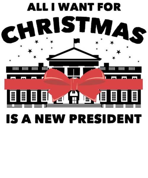 Midterm Wall Art - Digital Art - Anti Donald Trump Christmas Edition Vote For Dems Light by Nikita Goel