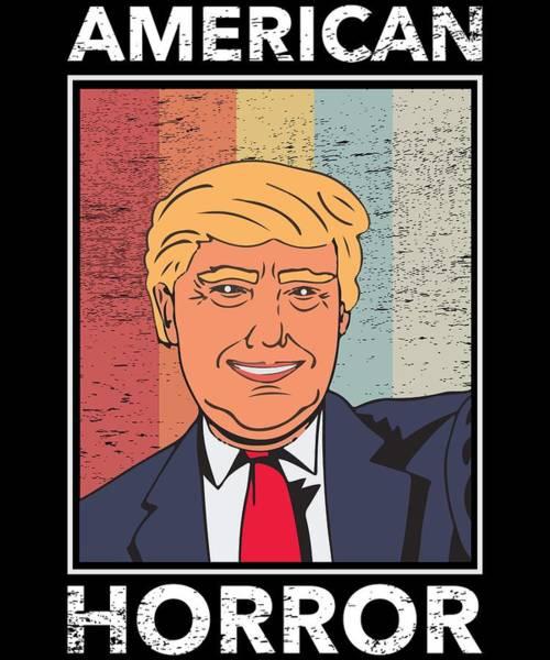 Midterm Wall Art - Digital Art - Anti Donald Trump Halloween Edition Vote For Dems Dark by Nikita Goel