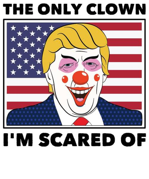 Midterm Wall Art - Digital Art - Anti Donald Trump Halloween Edition Vote For Dems Light by Nikita Goel