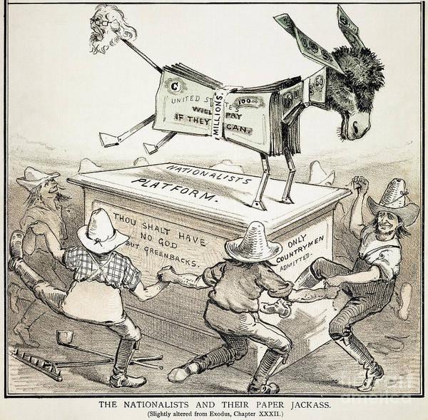 Photograph - Anti-greenback Cartoon by Granger