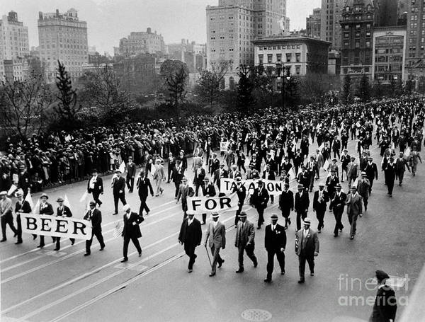Cops Photograph - Anti Prohibition Rally 1933 by Jon Neidert