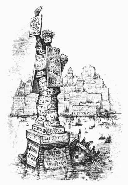 Monopoly Photograph - Anti-trust Cartoon, 1889 by Granger