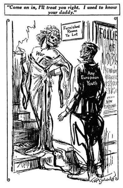 Drawing - Anti-war Cartoon, 1936 by Granger