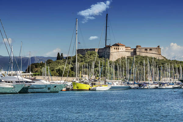 French Riviera Photograph - Antibes Fort Carre And Port Vauban  by Melanie Viola