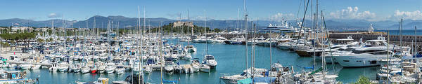 French Riviera Photograph - Antibes Fort Carre And Port Vauban - Panoramic by Melanie Viola