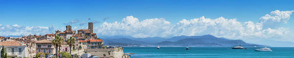 Riviera Photograph - Antibes Old Town - Panoramic by Melanie Viola
