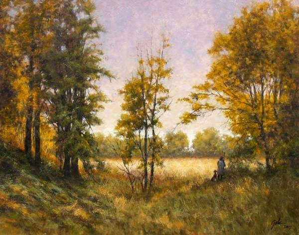 Country Scene Wall Art - Painting - Anticipation by Jim Gola