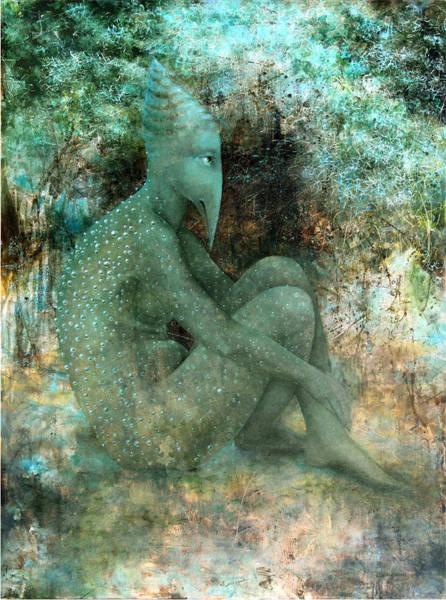 Birdman Painting - Anticipation by Lolita Bronzini