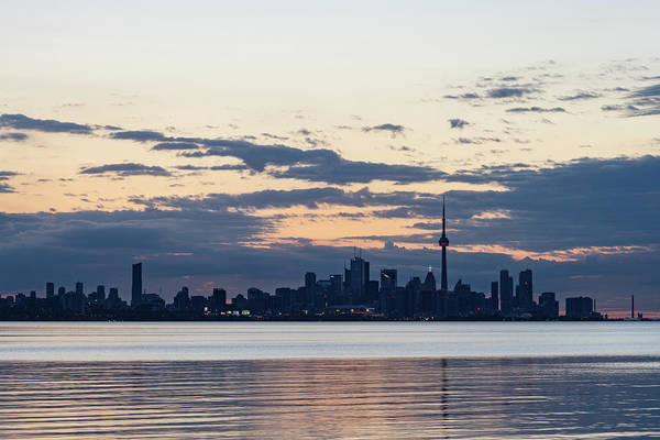 Photograph - Anticipation - Waiting For The Sunrise At Toronto Waterfront by Georgia Mizuleva