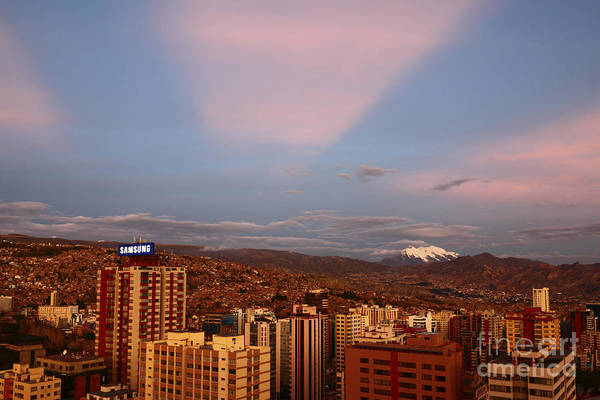 Photograph - Anticrepuscular Rays Over La Paz by James Brunker