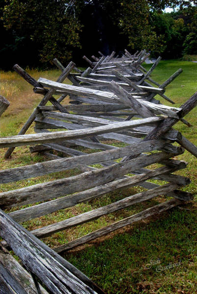 Wall Art - Photograph - Antietam Fenceline by Judi Quelland