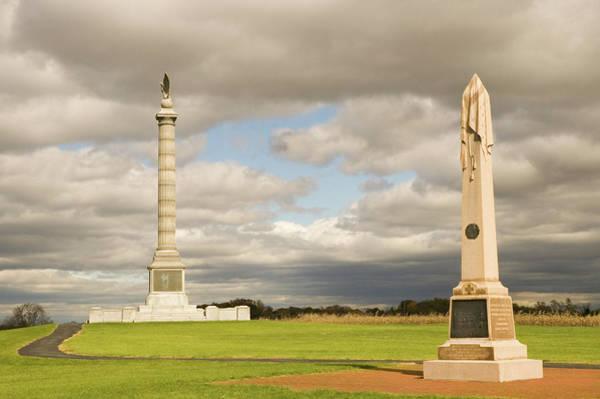 Photograph - Antietam Monuments by Mick Burkey