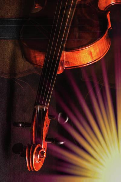 Photograph - Antique Violin 1732.63 by M K Miller