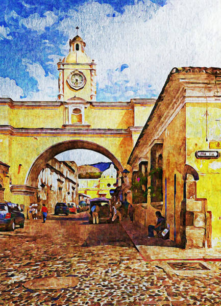 Digital Art - Antigua, Guatemala - Digital Paint by Tatiana Travelways