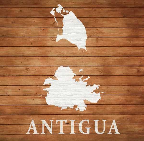 Traveler Mixed Media - Antigua Rustic Map On Wood by Dan Sproul