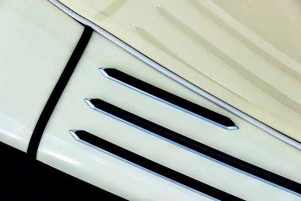 Photograph - Antique Auto Running Board And Reflection by Gary Slawsky