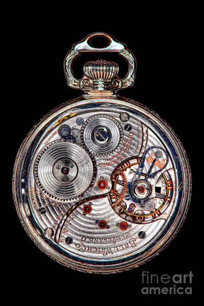 Wall Art - Photograph - Antique Ball Railroad Watch Movement  by Olivier Le Queinec