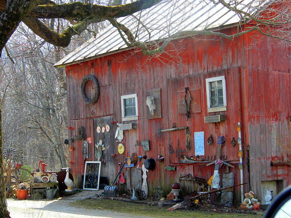 Photograph - Antique Barn Shop by Tina M Wenger