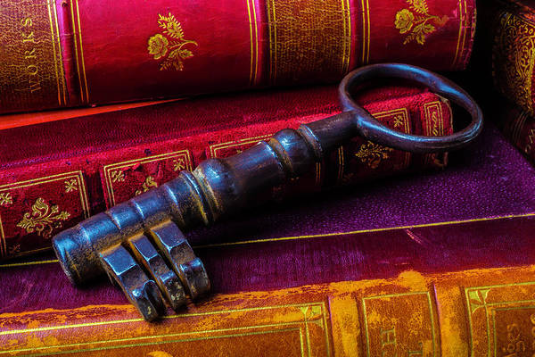 Wall Art - Photograph - Antique Books And Key by Garry Gay