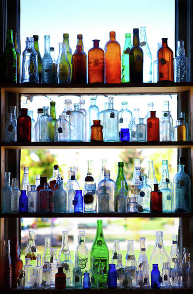 Wall Art - Photograph - Antique Bottle Window Display by Marilyn Hunt