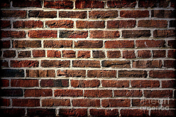 Middle Ages Photograph - Antique Brick Wall by Olivier Le Queinec