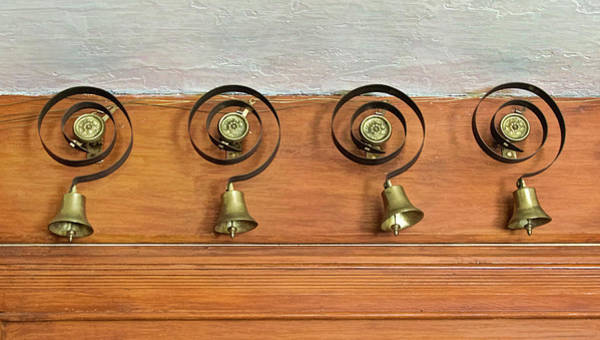 Photograph - Antique Butler Bells by Gary Slawsky