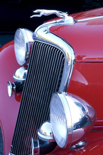 Photograph - Antique Car Hood Ornament by Brian Kinney