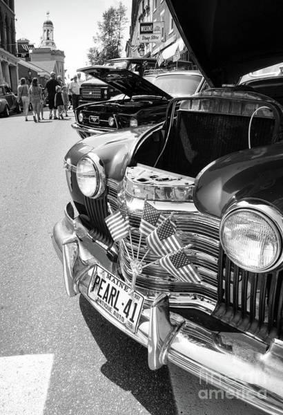 Photograph - Antique Car Show, Bath, Maine  -56459-bw by John Bald
