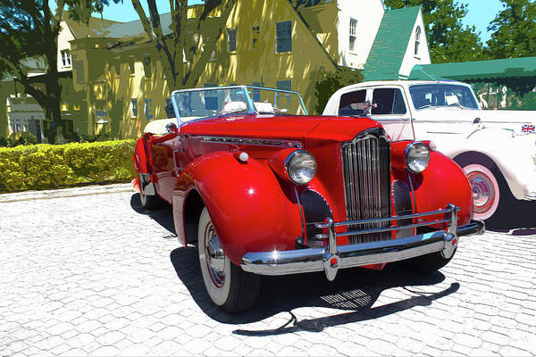 Photograph - Antique Car Show Series 8610 by Carlos Diaz