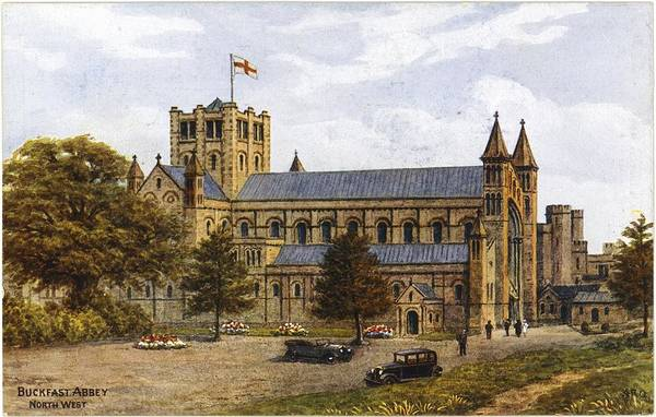 Wall Art - Photograph - Antique Cars In Front Of Cathedral by Gillham Studios