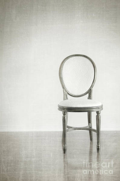 Wall Art - Photograph - Antique Chair With Grunge Style Background by Sandra Cunningham