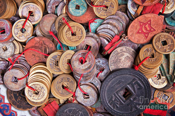 Wall Art - Photograph - Antique Coins by Delphimages Photo Creations