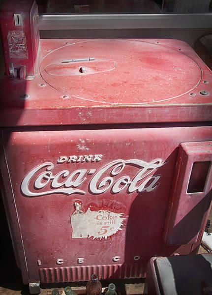 Wall Art - Photograph - Antique Coke Dispenser by Steve Ohlsen